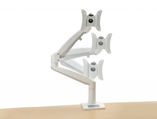 White gas controlled monitor arm