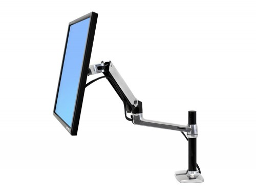 Monitor Arm Mount - Ergotron LX tall pole desk mount