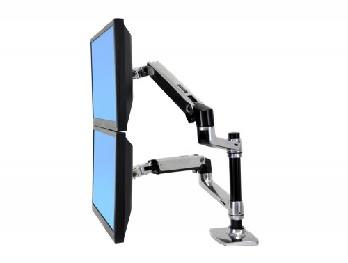 Ergotron LX dual stacked desk mount LCD arm