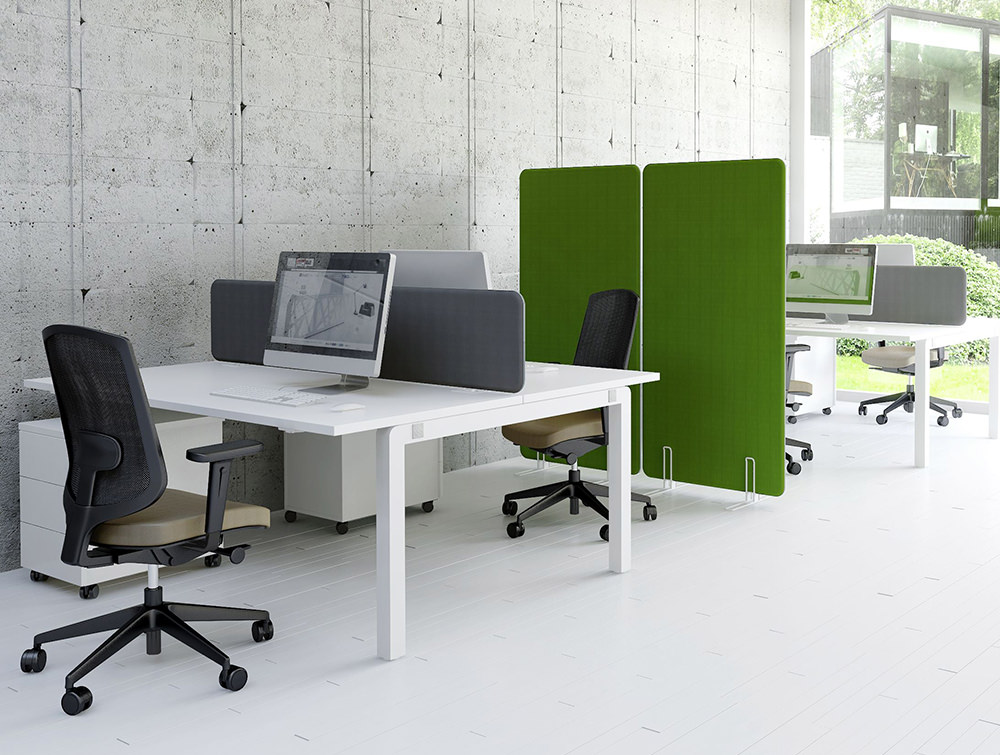 MDD-Acoustic-Freestanding-Screens-Grey-and-Green-Desk-Dividers