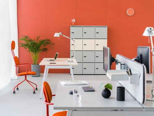 MDD-Modular-Multiple-Lockers-in-Orange-Themed-Office