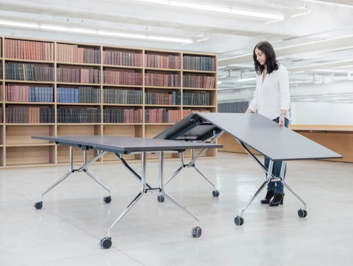 Mara Argo Libro Folding Rectangular Table for Libraries or Coworking Spaces