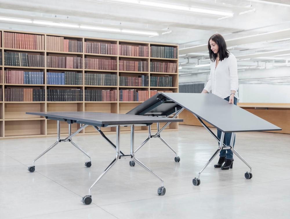 Mara Argo Libro Folding Rectangular Table for Libraries or Coworking Spaces