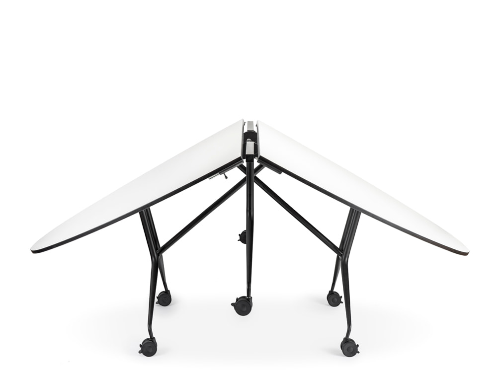 Mara Argo Libro T Round Table Folding Table for Coworking Space