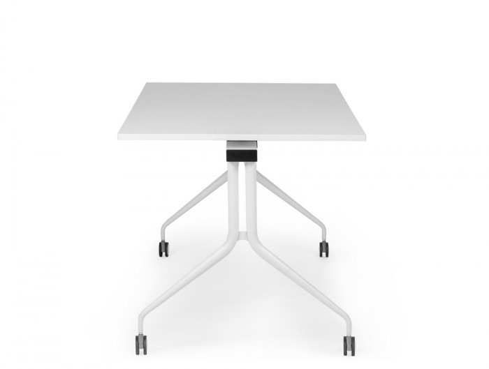 Mara Argo Tilting Rectangular Meeting Table with Castors in White
