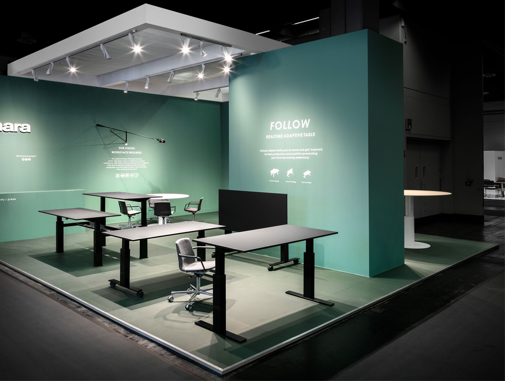 Mara Follow Collection Desks and Tables Height Adjustable with Chairs