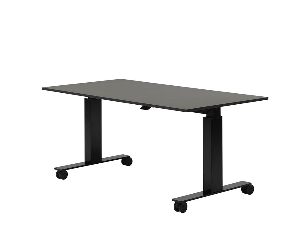 Mara Follow Tilting Height Adjustable Office Desk with Castors