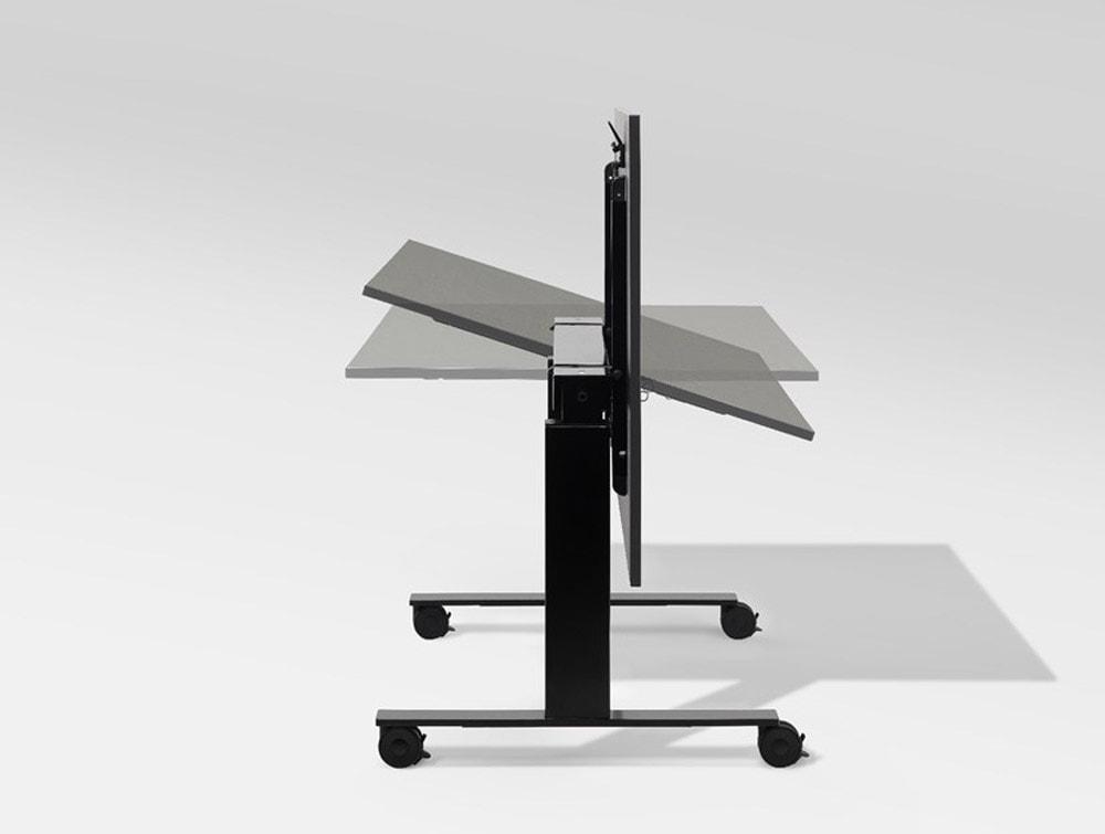 Mara Follow Tilting Height Adjustable Office Desk with Castors