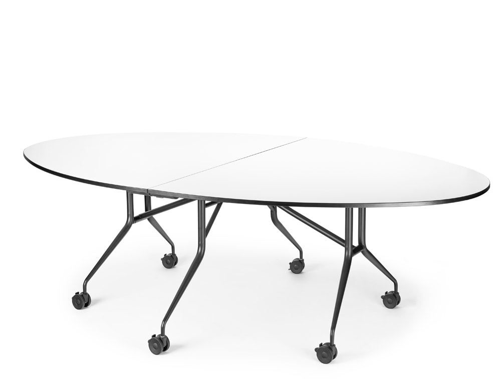 Mara Libro T Oval Folding Table for Meeting Room
