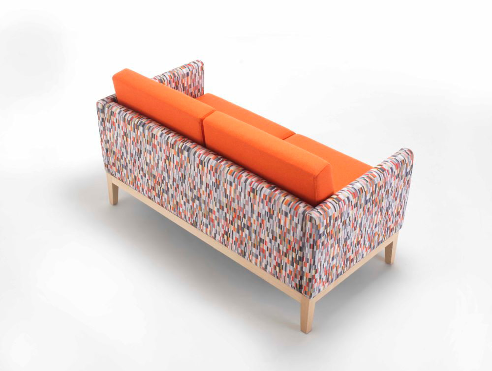 Maxtrix Funky Comfy Sofa Range Back Natural Oak Frame Two Seaters