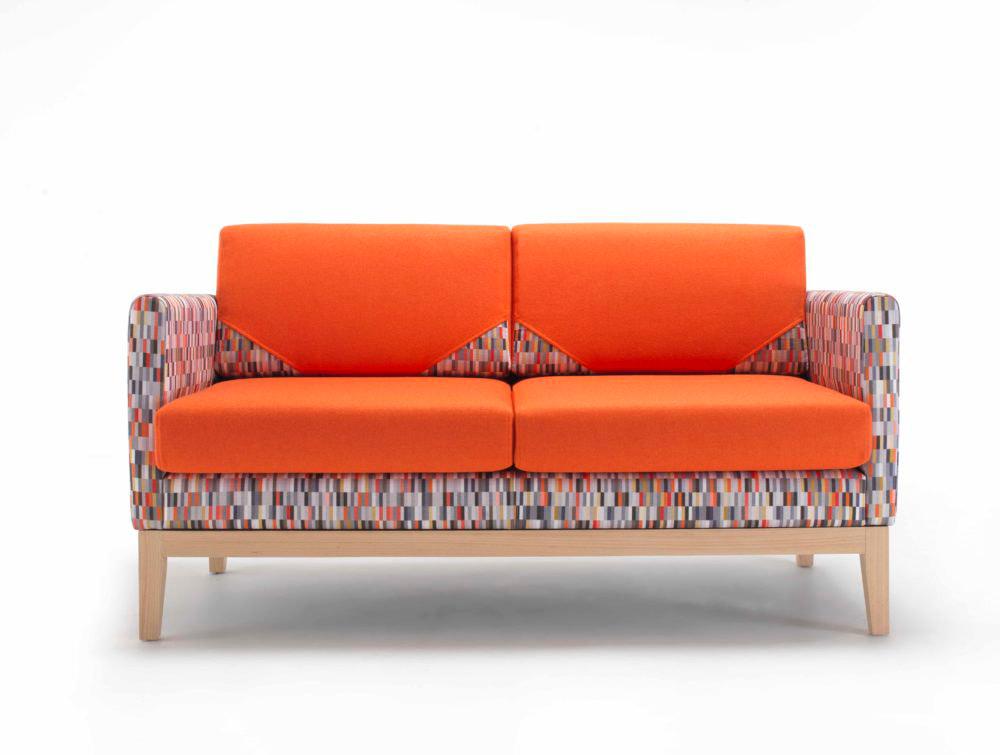 Maxtrix Funky Comfy Sofa Range with Deep Foam Orange Cushions