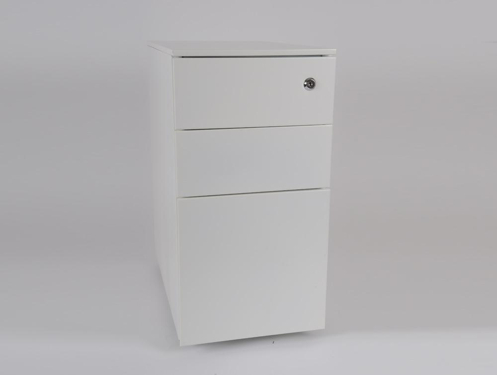 Metalicon Cube Narrow Steel Pedestal 1 Personal Drawer 2 Filing Drawers White 3