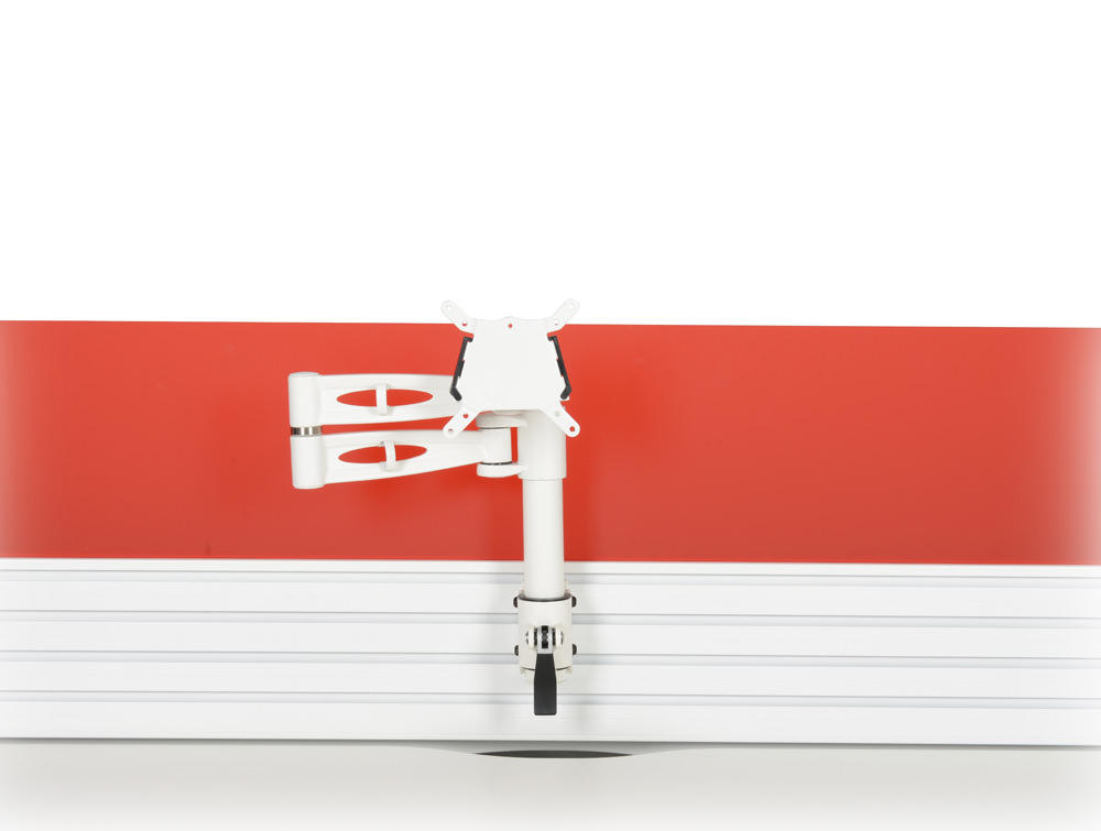 Metalicon KARDO PMSA521-WH Toolrail Mounted Single Monitor Arm White on VersaTrack Screen