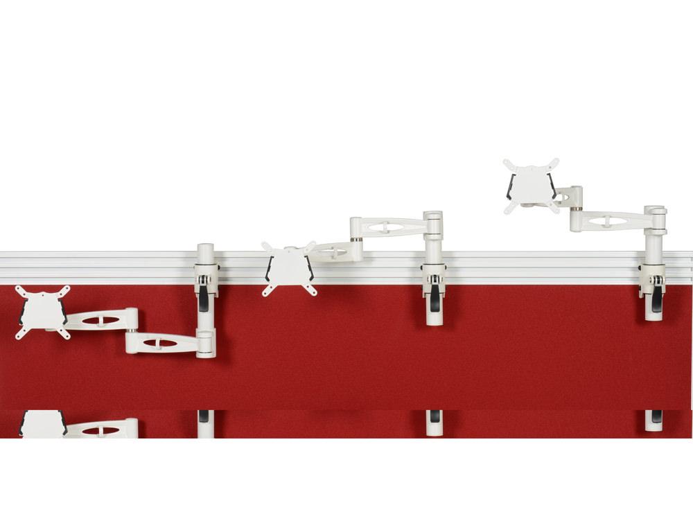 Metalicon Kardo Toolrail Mounted Single Monitor Arm White