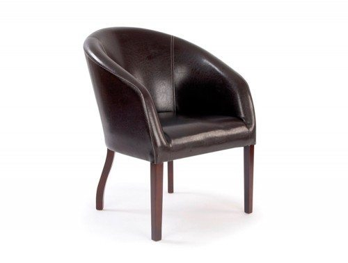 Metro Curved Armchair in Brown