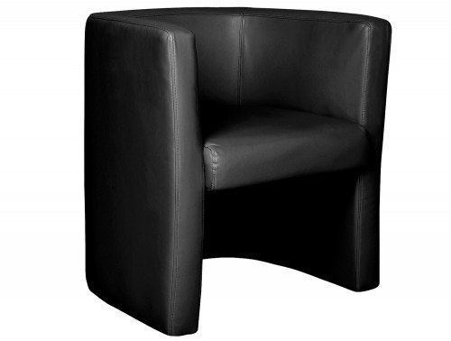 Milano High Back Tub Chair Black