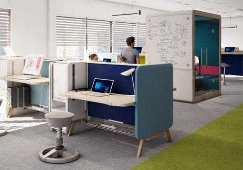 Mikomax Hush Meet Acoustic Pod in Open Plan Office