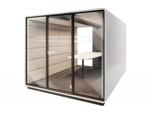 Mikomax-Hush-Meet-L-Acoustic-Meeting-Pod-Grey-Exterior-and-Cream-Interior