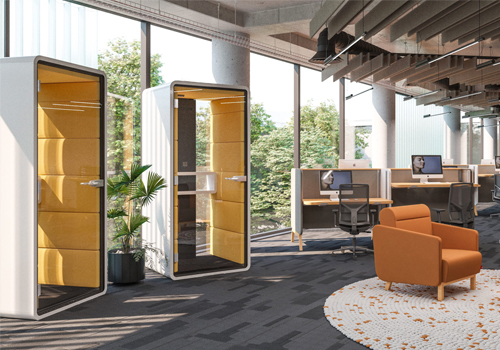Mikomax Hush Phone Acoustic Pod Phone Booth in Open Space Office