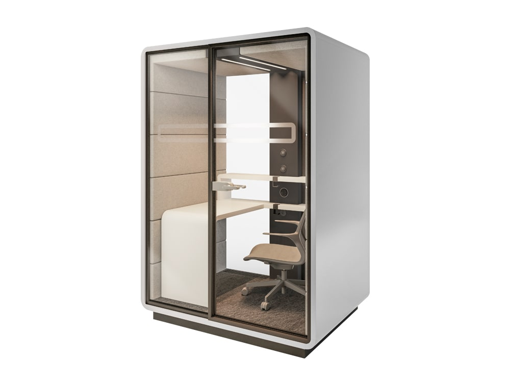 Mikomax Hush Work Acoustic Individual Work Booth with Desk