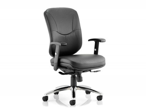 Mirage Executive Chair Black Leather With Arms Without Headrest Featured Image