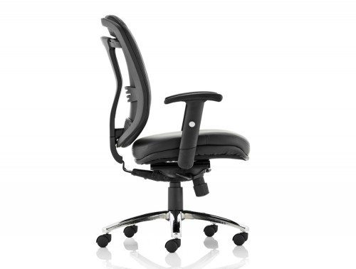 Mirage Executive Chair Black Leather With Arms Without Headrest Image 3