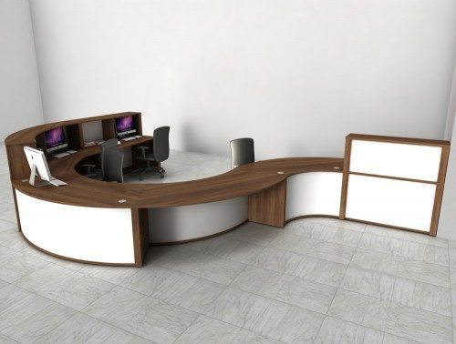 Mobili Reception Configuration 3 in an Office