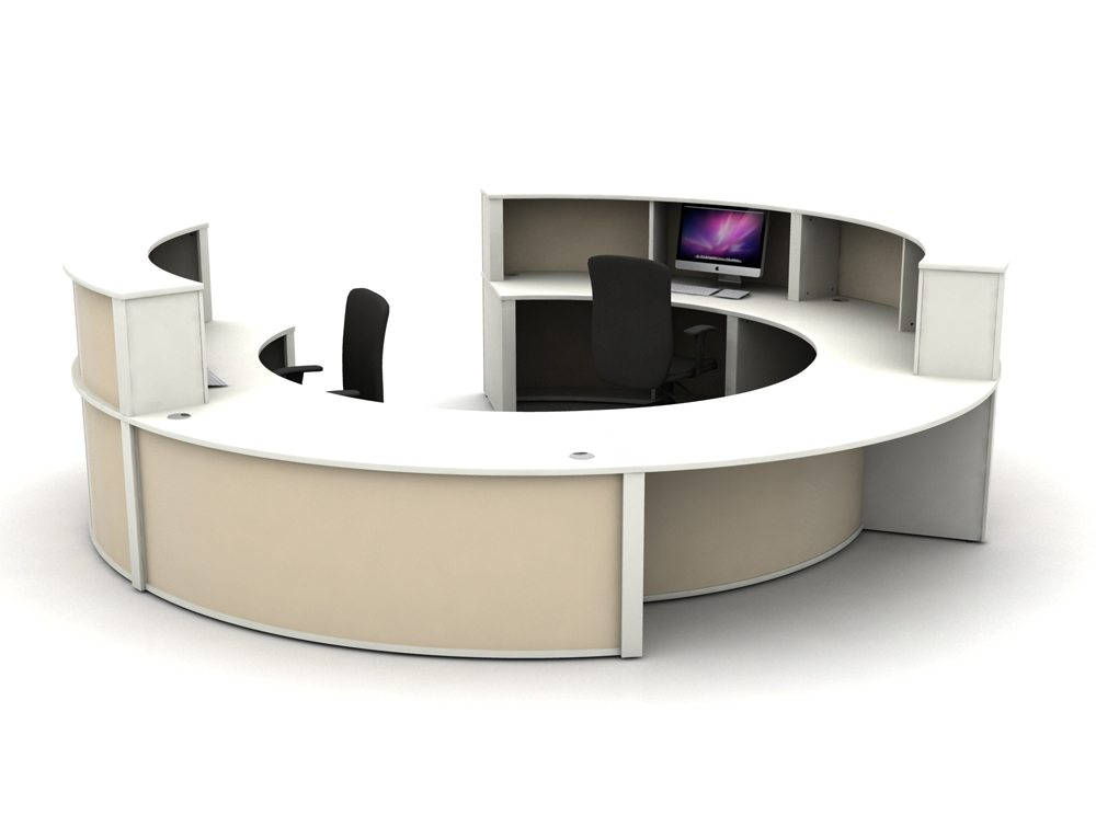 Mobili Reception Configuration 4 in Cappuccino