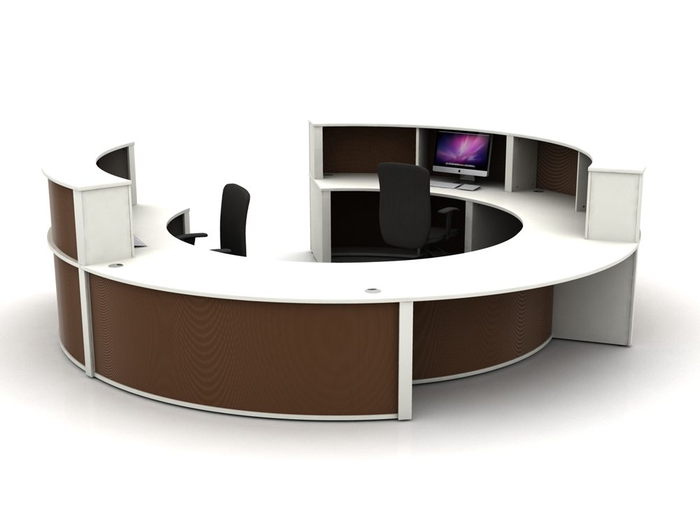 Mobili Reception Configuration 4 in Dark Brown