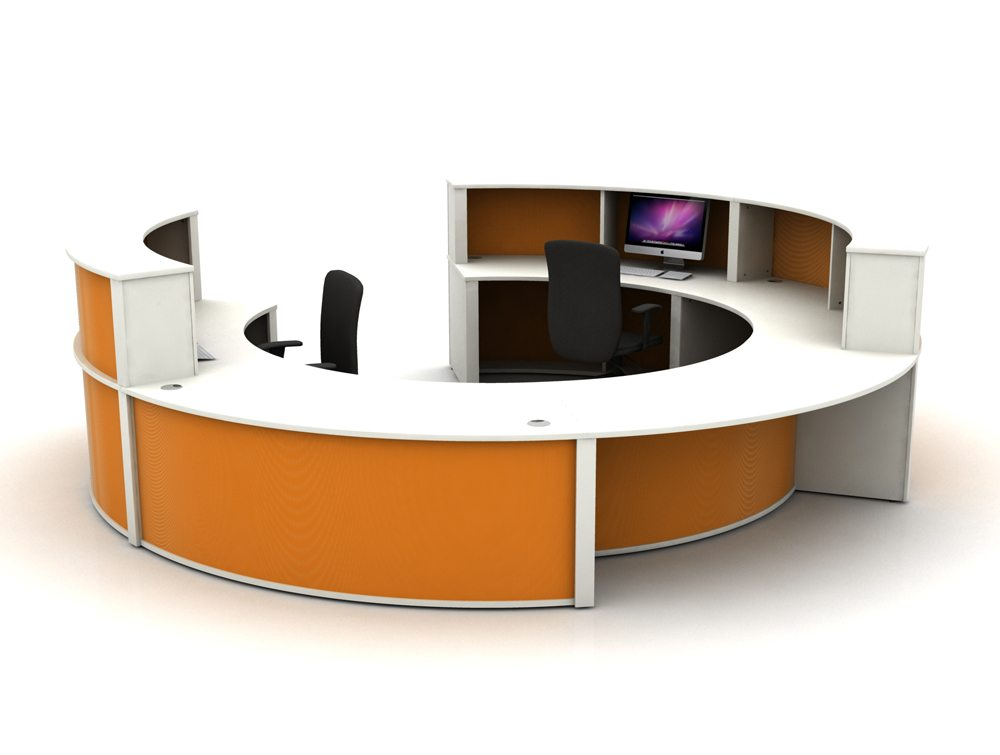 Mobili Reception Configuration 4 in Orange
