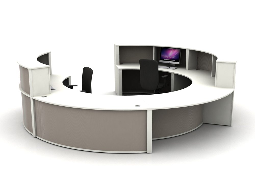 Mobili Reception Configuration 4 in Stone Grey