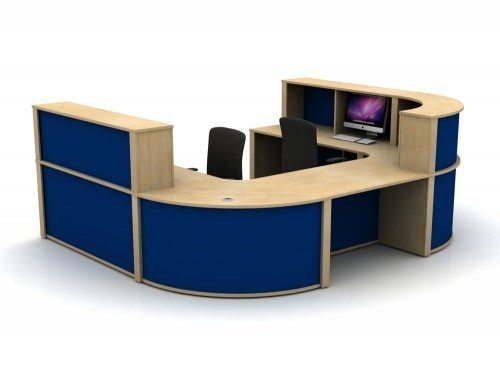 Mobili Reception Configuration 5 in Oak and Blue