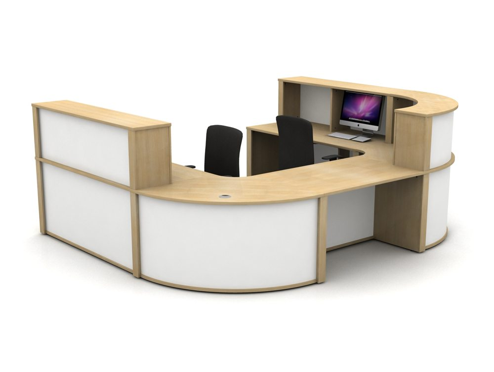 Mobili Reception Configuration 5 in Oak and White
