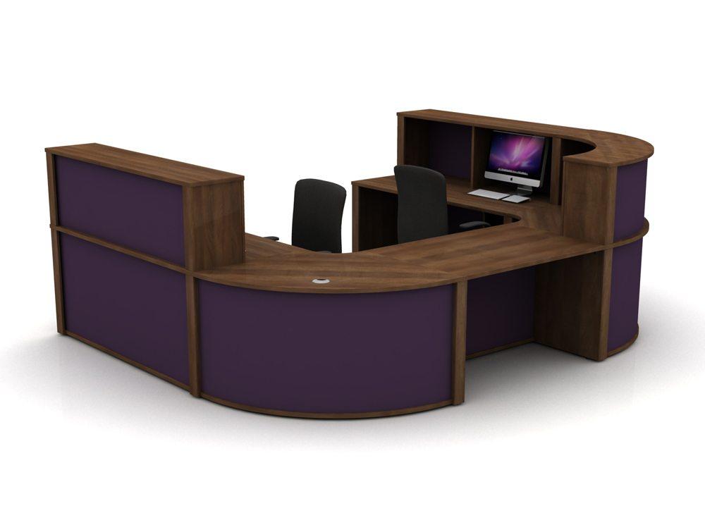 Mobili Reception Configuration 5 in Walnut and Auburn