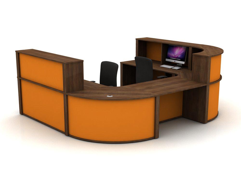 Mobili Reception Configuration 5 in Walnut and Citrus