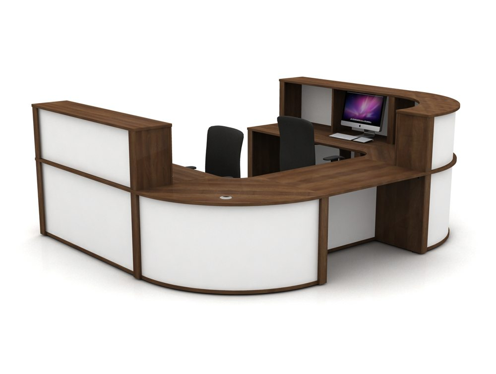 Mobili Reception Configuration 5 in Walnut and White
