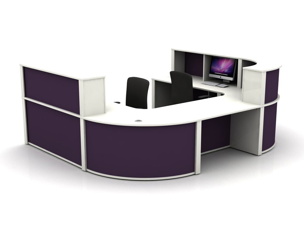 Mobili Reception Configuration 5 in White and Auburn