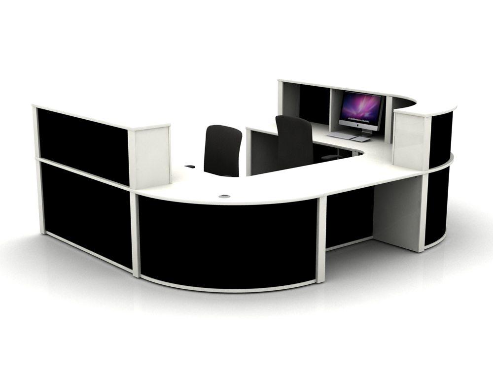 Mobili Reception Configuration 5 in White and Black