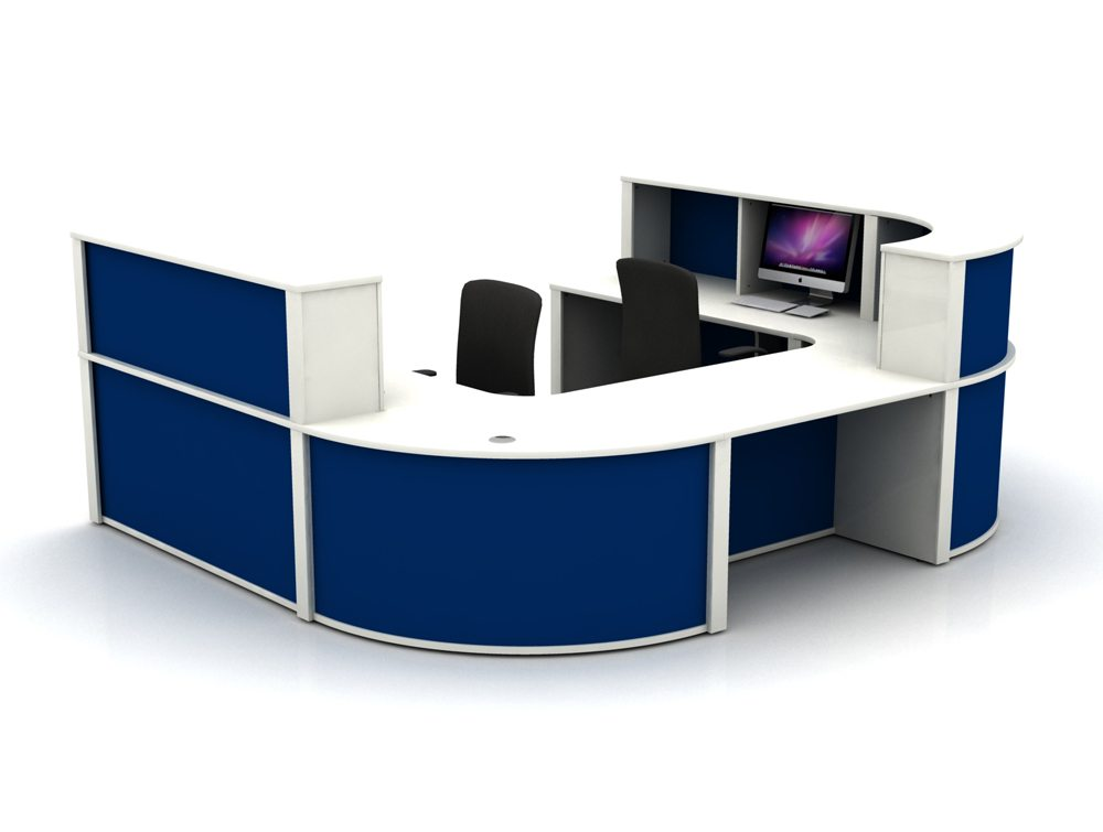 Mobili Reception Configuration 5 in White and Blue