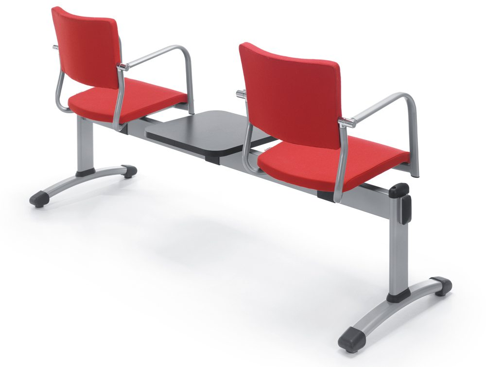 Modern Beam Seating in Red