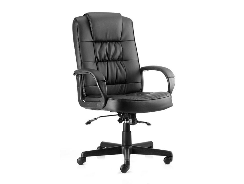 Moore Executive Black Leather With Arms Featured Image