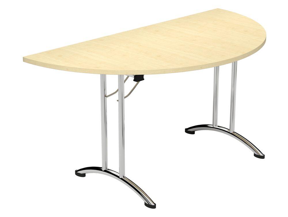 Morph Fold Semi Circle Foldable Table In Maple