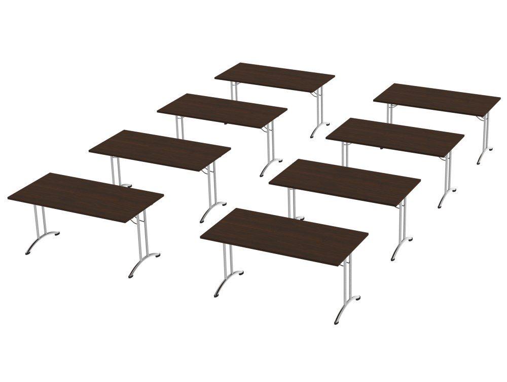 Morph Meeting Configuration Single Desk in Dark Walnut