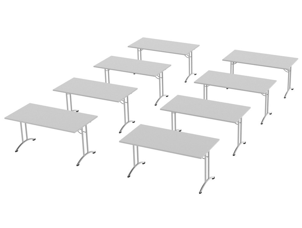Morph Meeting Configuration Single Desk in Grey
