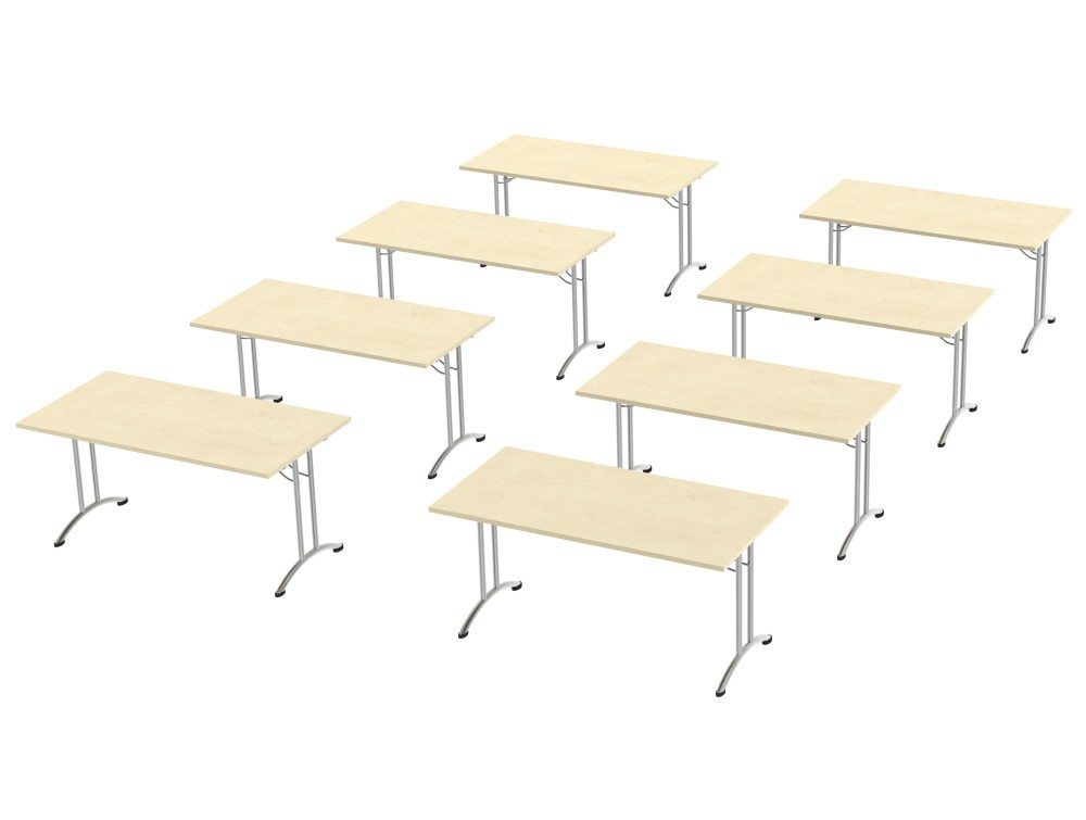 Morph Meting Configuration Single Desk in Polar Birch