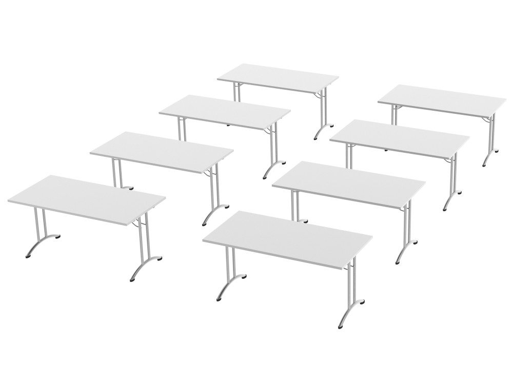 Morph Meeting Configuration Single Desk in White