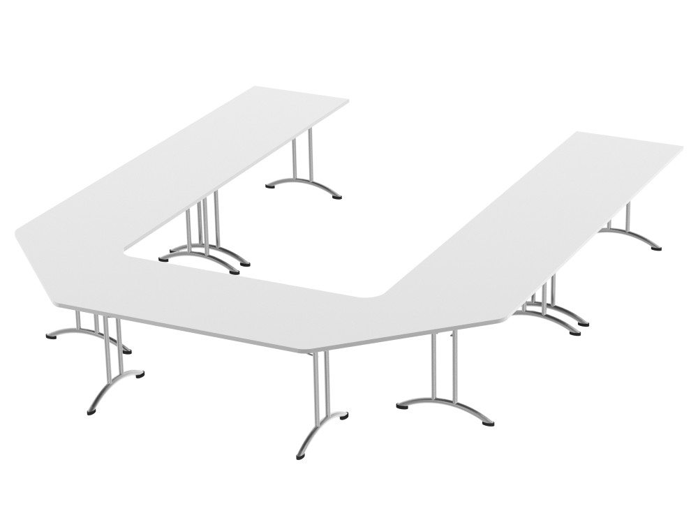 Morph Meeting Configuration U Shape in White
