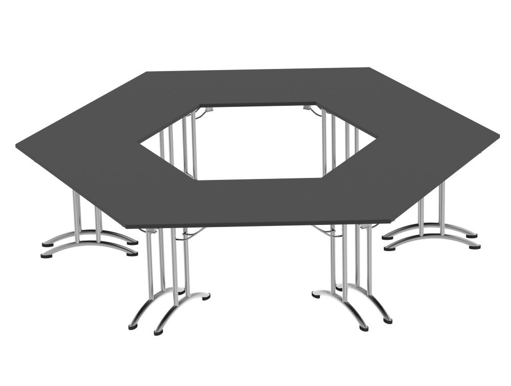 Morph Meeting Configuration Hexagon Shaped in Graphite