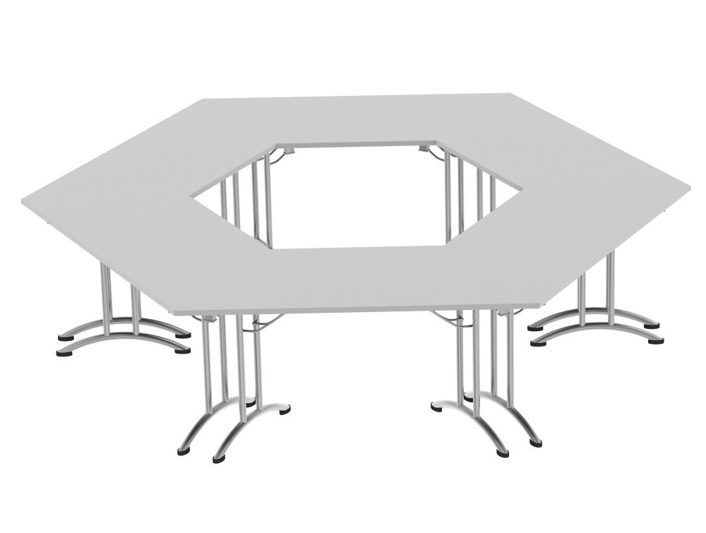 Morph Meeting Configuration Hexagon Shaped in Grey