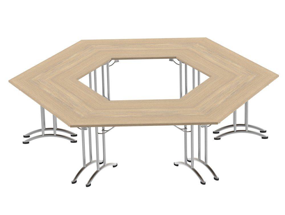 Morph Meeting Configuration Hexagon Shaped in Urban Oak